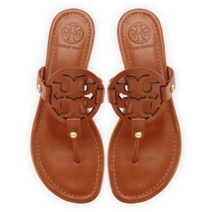 Tory Burch Miller Sandals - Brown Leather